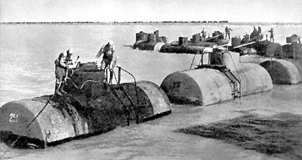 Transporting fuel tankers by sea from Baku to Krasnovodsk, 1942.